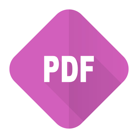 pdf: pdf pink flat icon