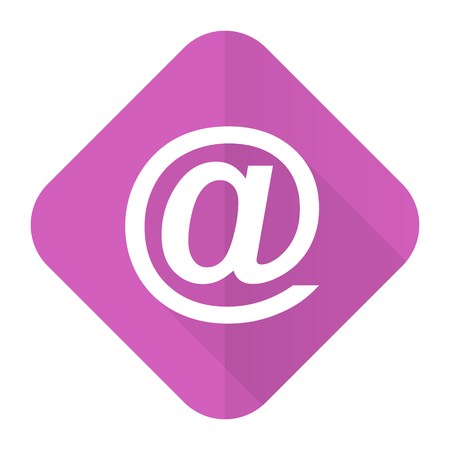 email pink flat icon photo