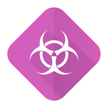 varez: biohazard pink flat icon virus sign
