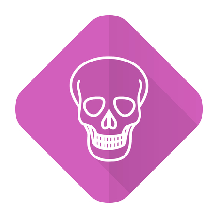 pirating: skull pink flat icon death sign Stock Photo