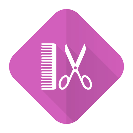 barber pink flat icon photo