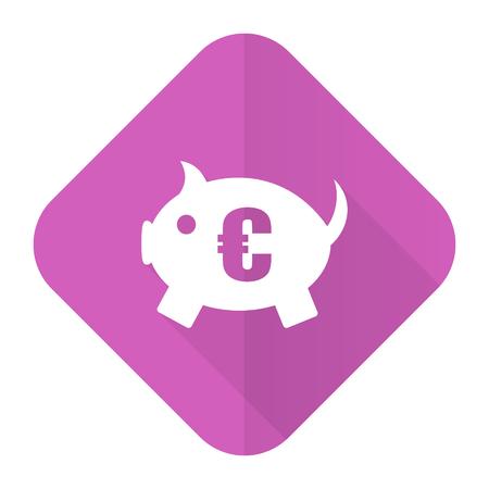 piggy bank pink flat icon photo