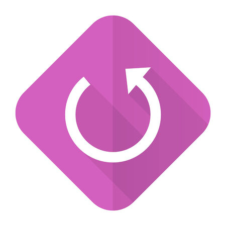 rotate: rotate pink flat icon reload sign