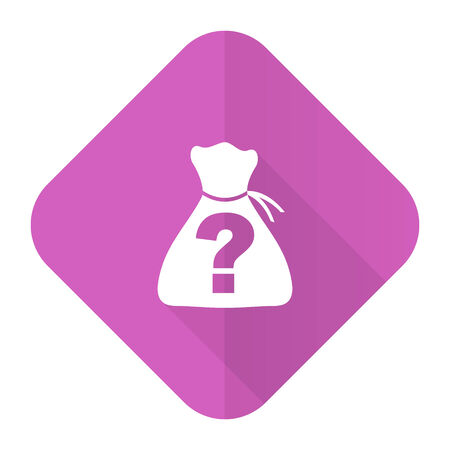 riddle: riddle pink flat icon Stock Photo
