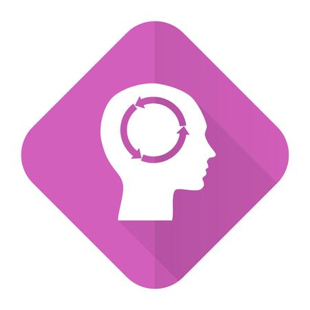 keen: head pink flat icon human head sign