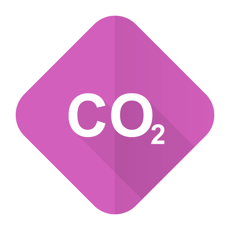 dioxide: carbon dioxide pink flat icon co2 sign Stock Photo