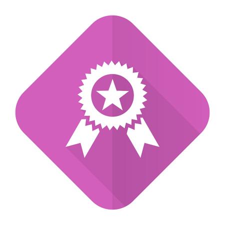 award pink flat icon prize sign photo