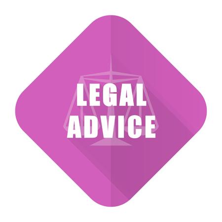 asesoria legal: asesoramiento jur�dico icono rosado plana signo ley