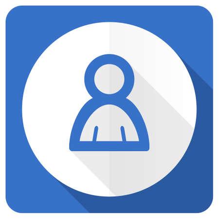 person blue flat icon photo