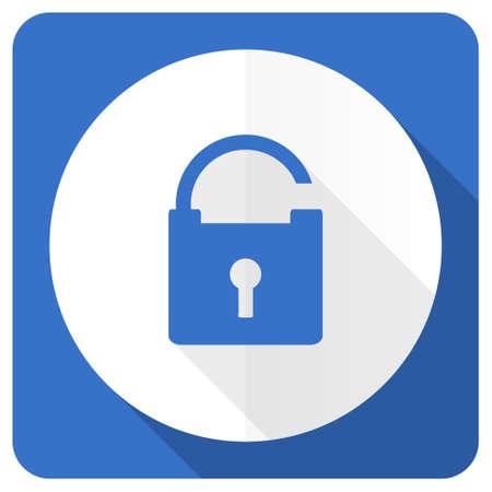 trusty: padlock blue flat icon secure sign