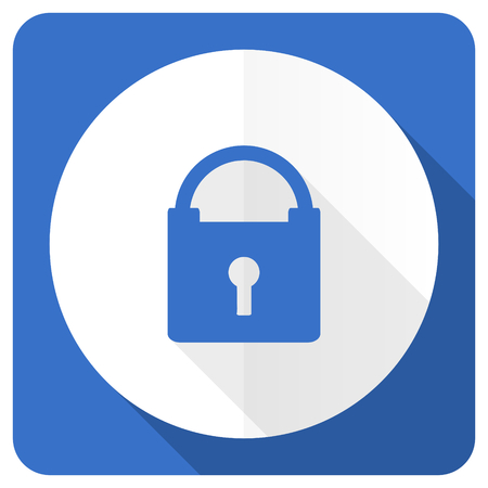trusty: padlock blue flat icon secure sign