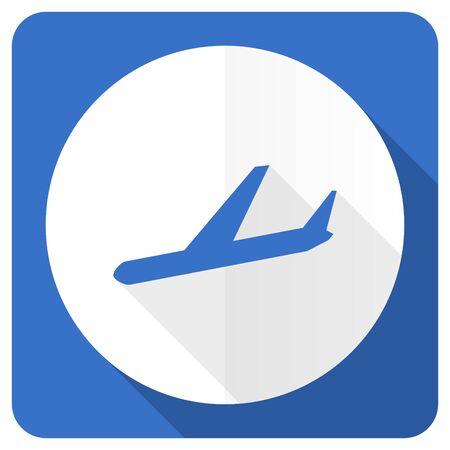 arrivals: arrivals blue flat icon plane sign