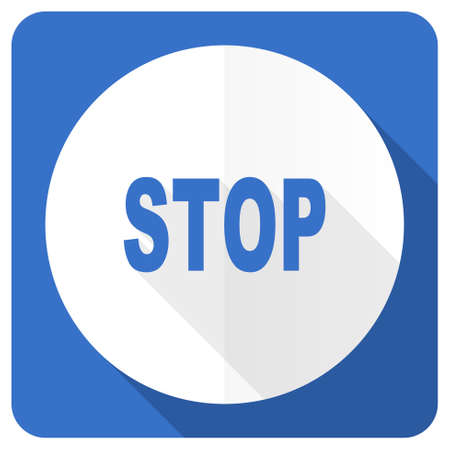 proscribed: stop blue flat icon