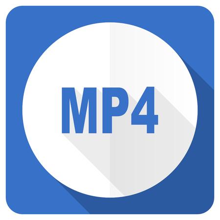 mp4 blue flat icon photo