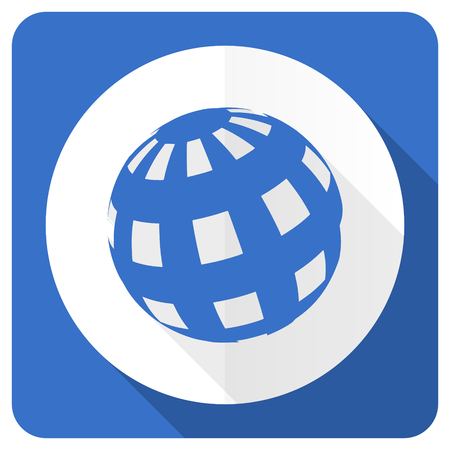 parallels: earth blue flat icon