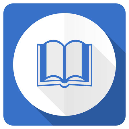 guestbook: book blue flat icon