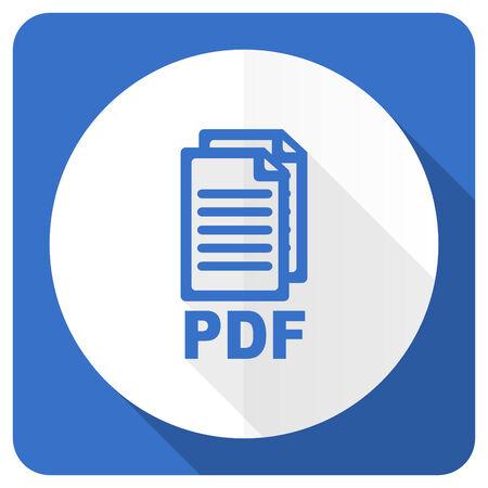 pdf: pdf blue flat icon pdf file sign Stock Photo