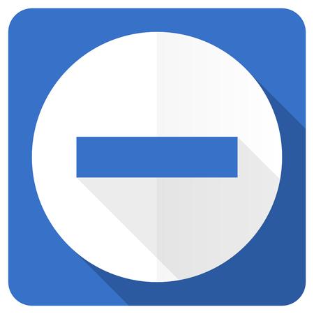 minus: minus blue flat icon Stock Photo