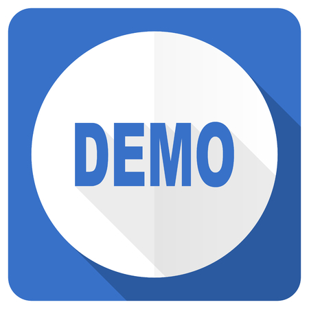 demo: demo blue flat icon