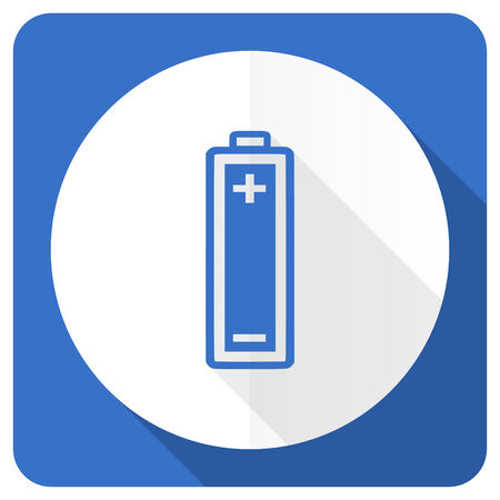 accuse: battery blue flat icon power sign