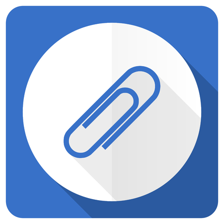 paperclip: paperclip blue flat icon Stock Photo