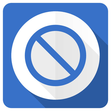 access denied: access denied blue flat icon Stock Photo
