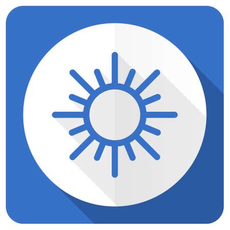 sun blue flat icon waether forecast sign photo