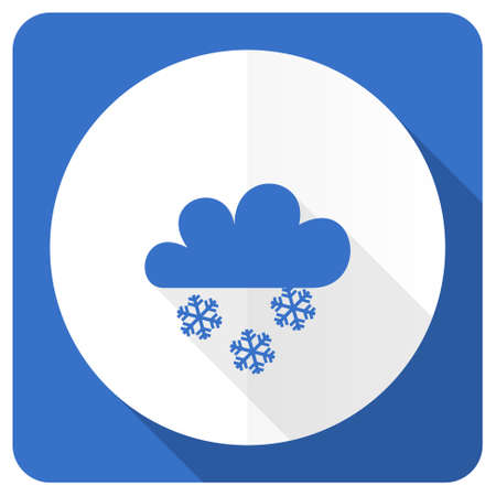 snowing: snowing blue flat icon waether forecast sign