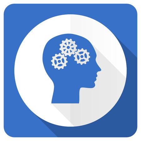 head blue flat icon human head sign photo