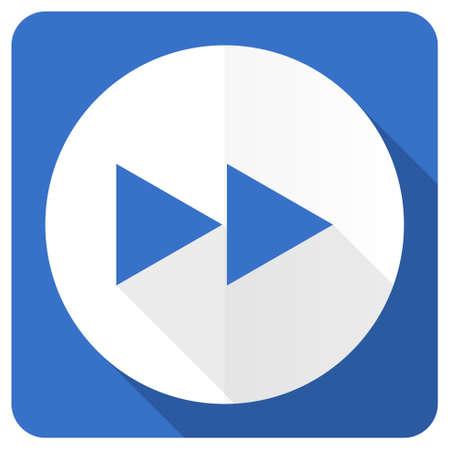 eject: rewind blue flat icon
