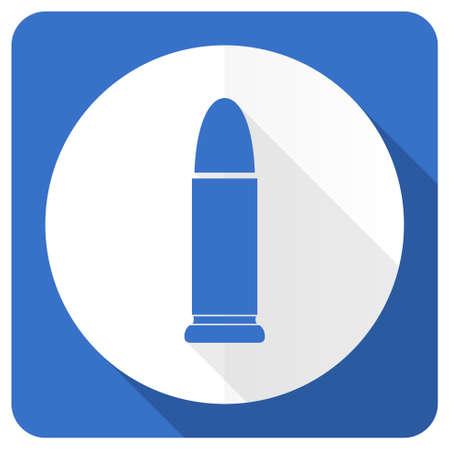 ammunition: ammunition blue flat icon weapoon sign Stock Photo