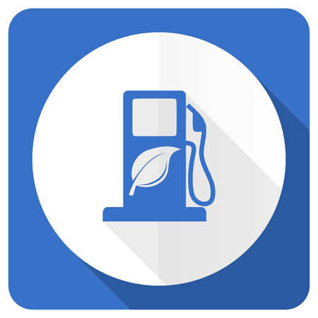 agro: biofuel blue flat icon bio fuel sign