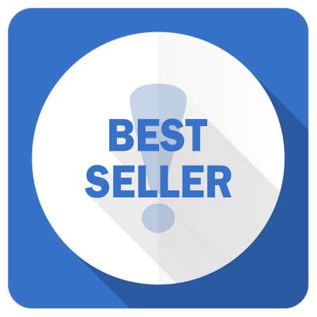 best seller: best seller blue flat icon Stock Photo