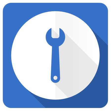 instrumentation: tools blue flat icon service sign