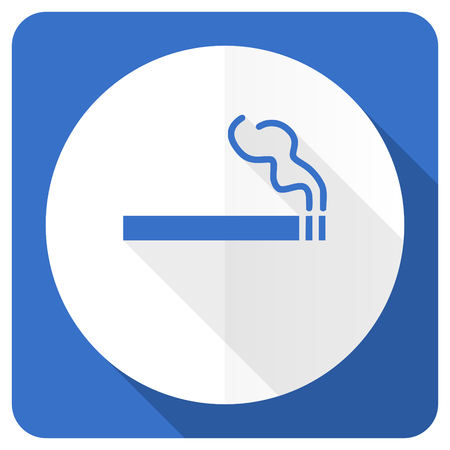 nicotine: cigarette blue flat icon nicotine sign