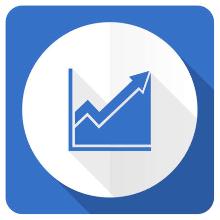 histogram: histogram blue flat icon stock sign