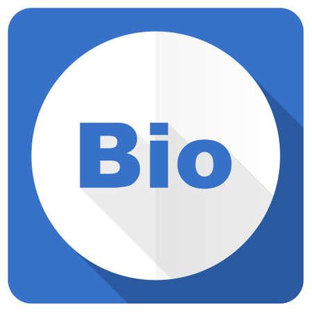 renewal: bio blue flat icon Stock Photo