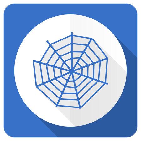 spider web: spider web blue flat icon