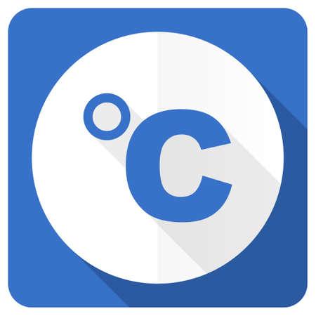 celcius: celsius blue flat icon temperature unit sign