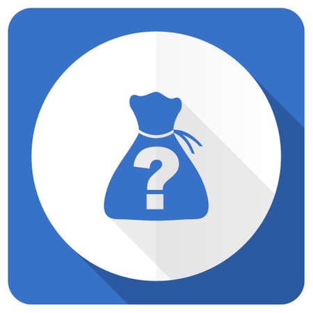 riddle: riddle blue flat icon Stock Photo