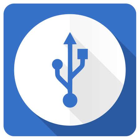 flash memory: usb blue flat icon flash memory sign