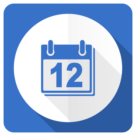appointment book: calendar blue flat icon organizer sign agenda symbol