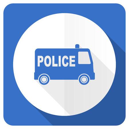 highway patrol: police blue flat icon