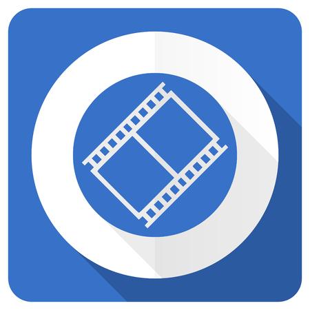 movie sign: pel�cula azul plana icono de pel�cula s�mbolo de la muestra de cine