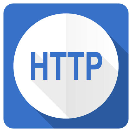 http: http blue flat icon