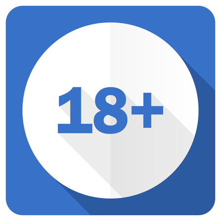 permitted: adults blue flat icon