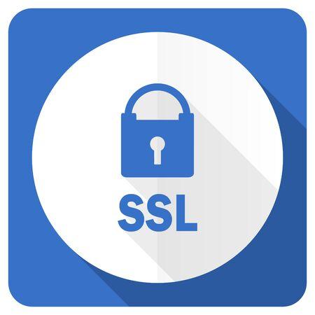 ssl: ssl blue flat icon Stock Photo