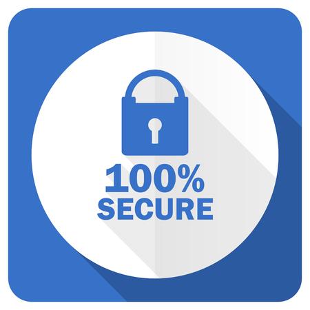 trusty: secure blue flat icon