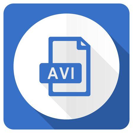 avi: avi file blue flat icon Stock Photo