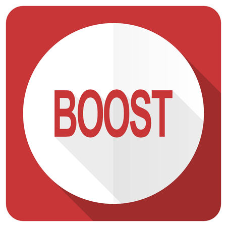 boost: boost red flat icon